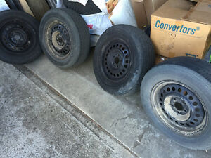 195 70 R14 tires with rims Strathcona County Edmonton Area image 1
