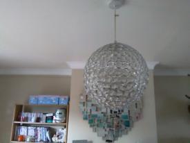 Jeweled lamp shade