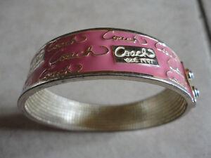 Coach coral coloured gold tone bangle bracelet London Ontario image 4