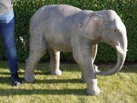 Large Freestanding Elephant Garden Statue Ornament