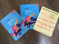 Grade 1 and 2 piano sight reading and theory books