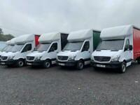 MERCEDES SPRINTER 314 & FORD TRANSIT 1/2 CURTAIN SIDE LUTON VANS +/- TAIL LIFT