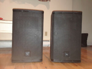 Two E.V. ELX 112 PA Speakers