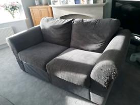 Next 3 seater sofa, denim blue/brown
