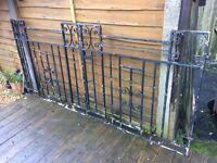 7ft wide steel gates / driveway gates / double gates / garden gates £30