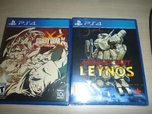 Assault Suit Leynos(sealed) and Guilty Gear Xrd Revelator(seale)