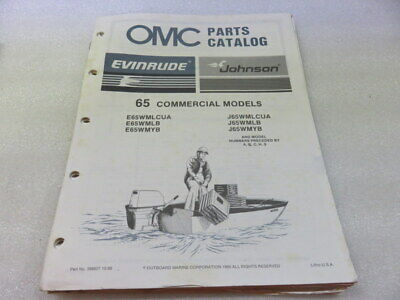 PM64 1987 OMC 65 Commercial Models Final Edition Parts Catalog Manual P/N 398627