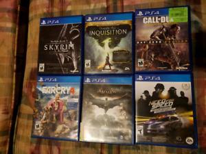 PS4 games. SKYRIM. FARCRY 4. BATMAN. DRAGON AGE