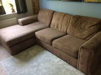 DFS Large 3 Seat Sofa with Chase Longue and Sofa Bed