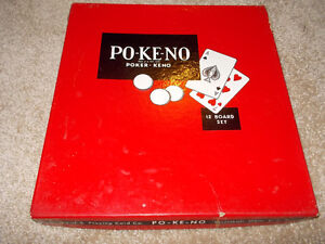 Po-Ke-No Poker-Keno 12 Board Set--nice vintage game! London Ontario image 1