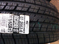 Brand New 2 x 265/65R17 Cooper all season tires, 100% new
