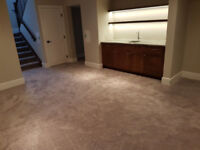 Carpet Installation with Supply and underpad - $2.29 per Sq ft