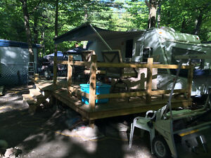 terrain complet roulotte cart camping lac des pins