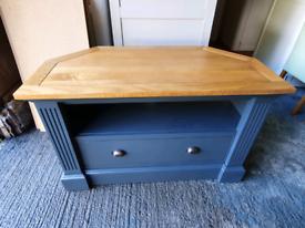 Oak furniture land Highgate corner tv unit grey painted exdisplay new