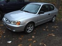 2002 Hyundai Accent only 83,000 km