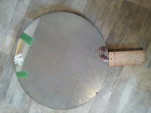Miroir antique rond : diamètre 30'' ¼ épaisseur
