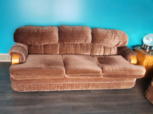 Comfy brown couch and chair!