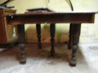 Antique Five-Legged Dining Room Table
