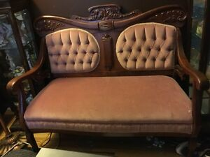 Beautiful Antique Settee and matching chair London Ontario image 4