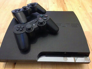 PS3 with 2 controllers and 6games