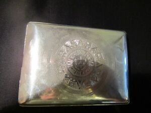 ORNEX STERLING SILVER EAGLE CIGARETTE CASE