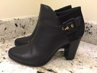 Dune Ladies Leather and Suede Ankle Boots Black