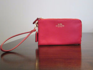 Coach Wristlet- Red Leather