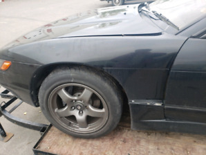 S13 silvia part out. Whole car split in 2 by pole