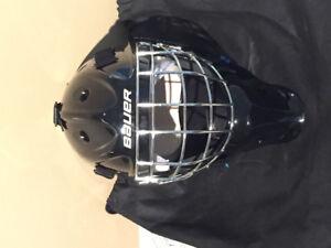 Bauer NME 3 Junior Goalie Helmet - Black