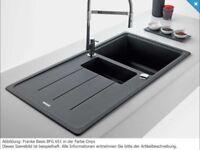 New in box franke BFF 651 black onyx ( granite ) kitchen sink