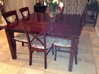 Dining set with seven chairs