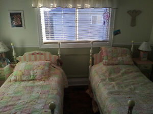 Hand Painted custom bed room set with bedding