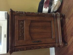 Harvest Wood Wine Cabinet