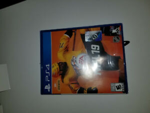 NHL 19 ps4 new SEALED.  Will trade for spiderman