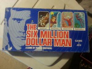 1975  SIX  MILLION  DOLLAR  MAN  BOARD  GAME