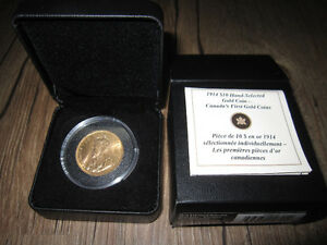 Canada's First Gold Coins 1914 $10 Gold Coin Original Packaging