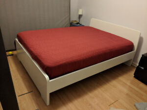 IKEA double bed frame + mattress both in excellent condition