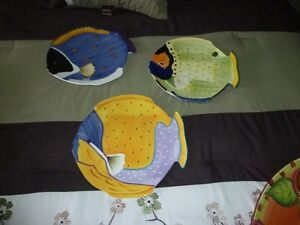 Colorful Fish Motif Dishes