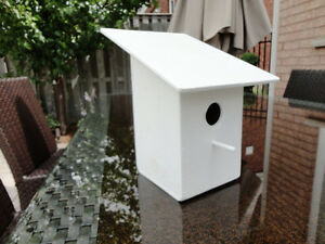 Custom Made Wooden White Birdhouse - Never used