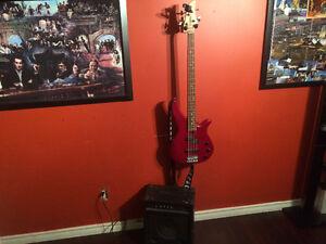 Yamaha Bass and Randall bass amp combo