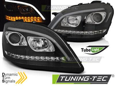 Mercedes W164 ML M-Klasse Scheinwerfer LED Tagfahrlicht Optik SEQ. LED Blinker