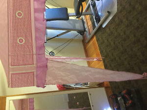 Full pink canopy for twin bed