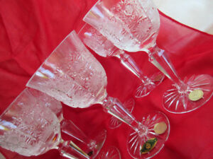 handcut 6 Honour Crystal-Wine glass-Slovakia new-prc.firm.must c