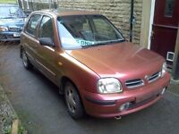 Nissan Micra 1.3 Lpg, 10 months MOT. Limited edt. A/c, 5 dr, gas. Toyota. Honda. Yaris. Starlet.