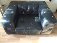 Marinelli 3+1 settee with Swarovski crystals
