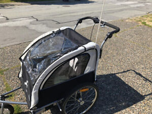 Aosom-Double-Child-Trailer-Stroller ON SALE !