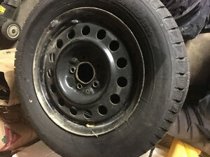 Winter tires and steel rims - 225/60-16  (5x4.5)