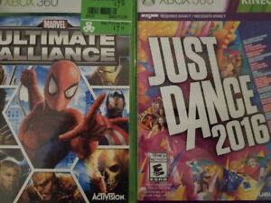 Marvel Ultimate Alliance and Just Dance 2016 Xbox 360