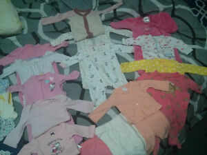 Baby girl newborn and 0-3 mnths clothing lot. Cambridge Kitchener Area image 3