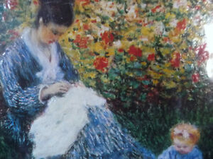 "Claude Monet ""Camille Monet and a Child in the Artist's Garden Stratford Kitchener Area image 5"